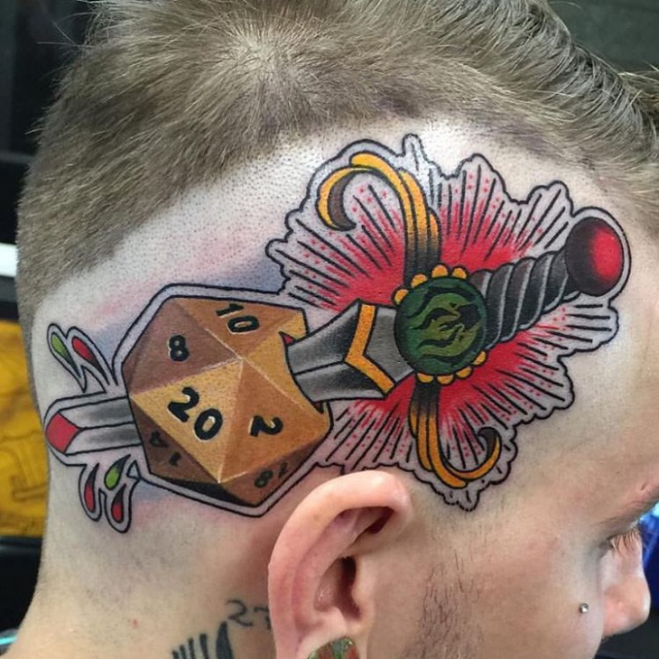 Awesome Head Tattoo Design