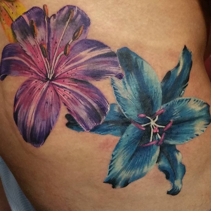 lilly tattoo cover up