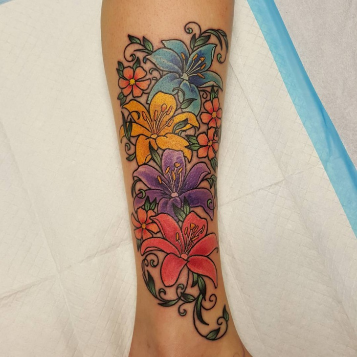 bright and colorful tattoo
