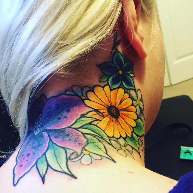 neck tattoo for women