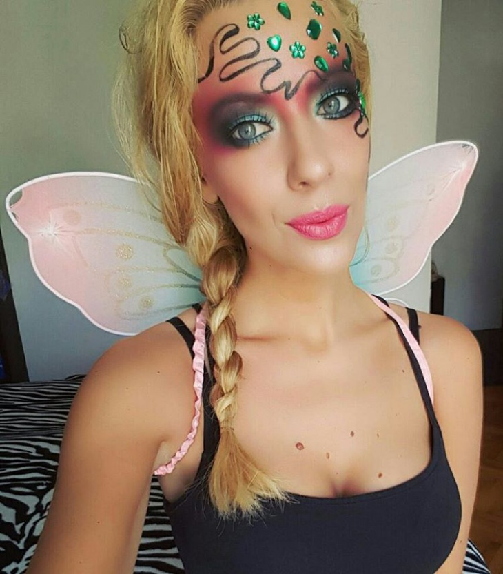 butterfly makeup for cute girl
