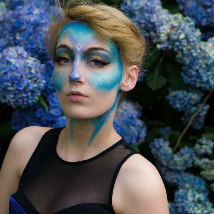 Blue Fantasy Makeup