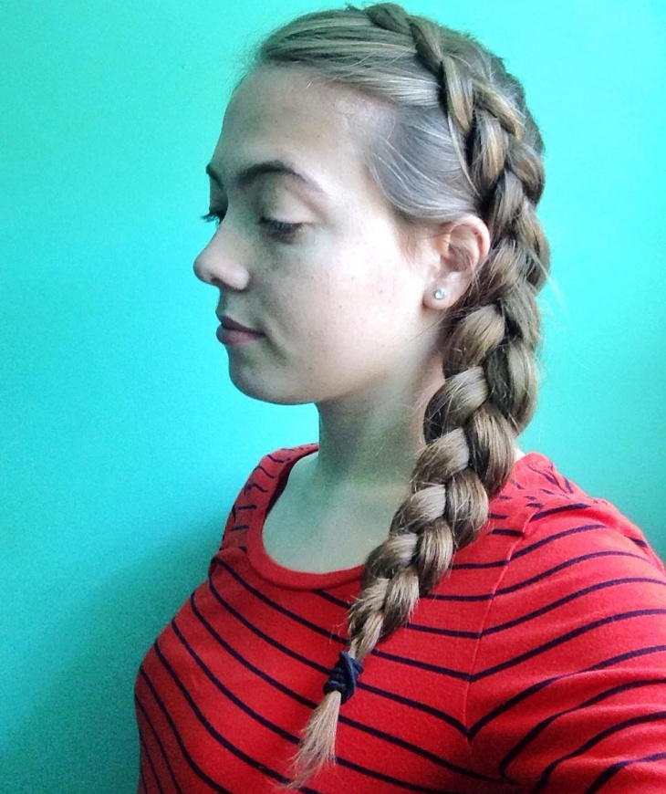 Side Long Dutch Braid