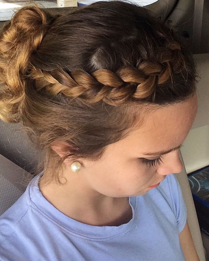 Short Braided Dutch Hairstyle