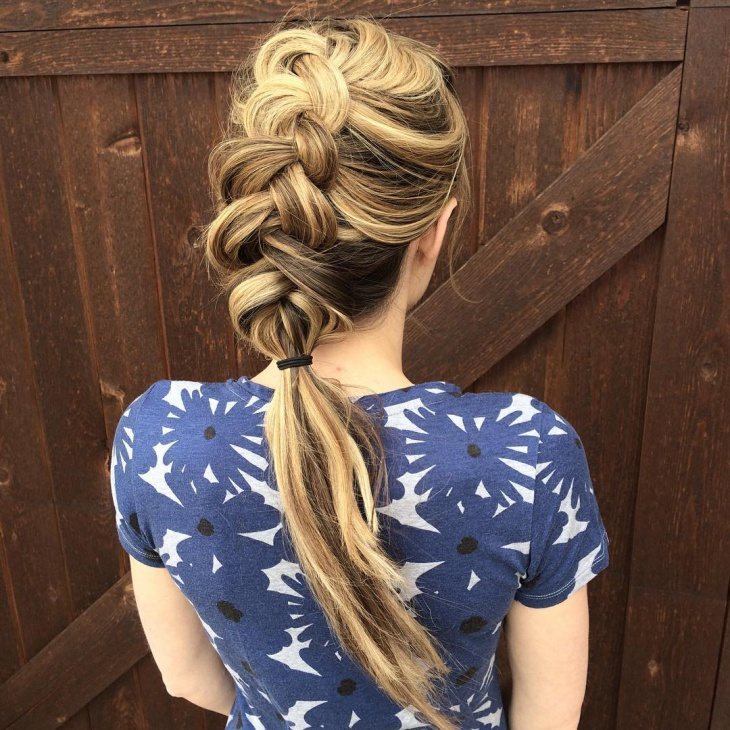 Inside Out Plait Hairstyle