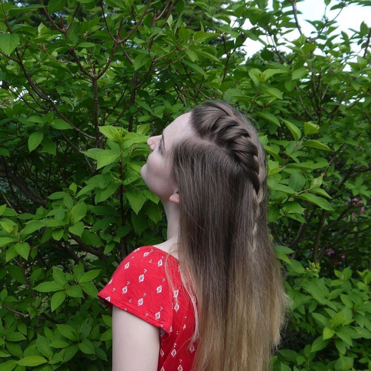 French Braid for Long Hair