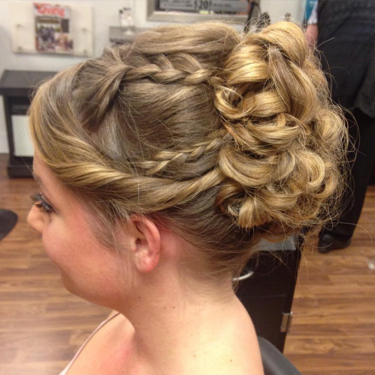 Side Dutch Braid for Prom