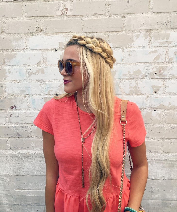 Blonde Dutch Braid Hairstyle