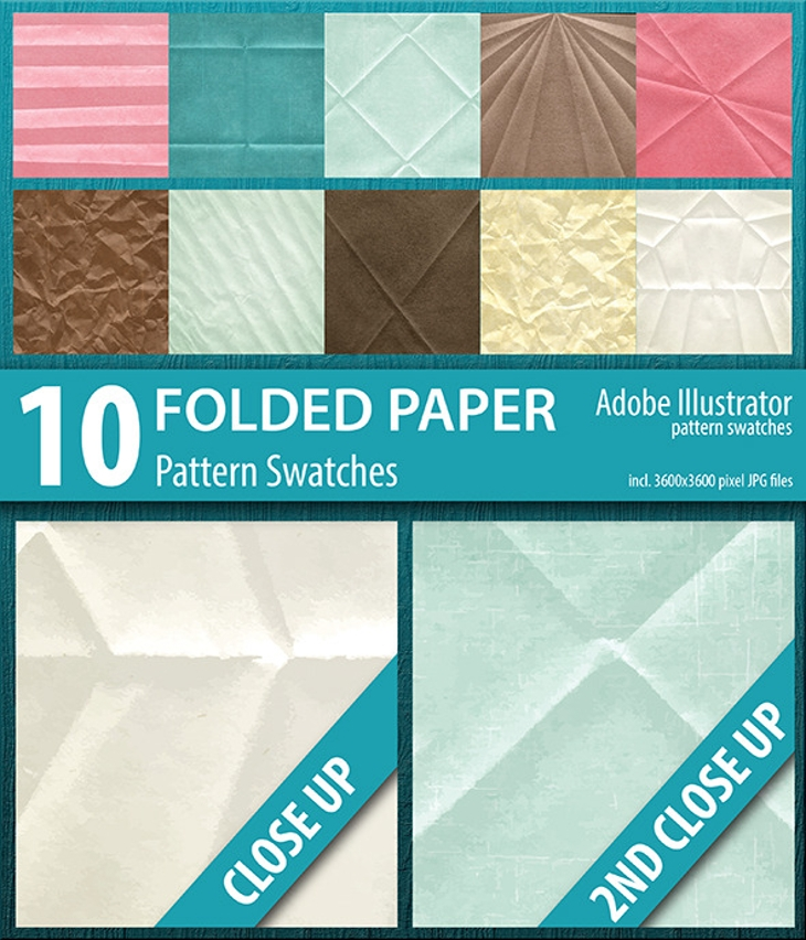 folded paper texture pattern swatches