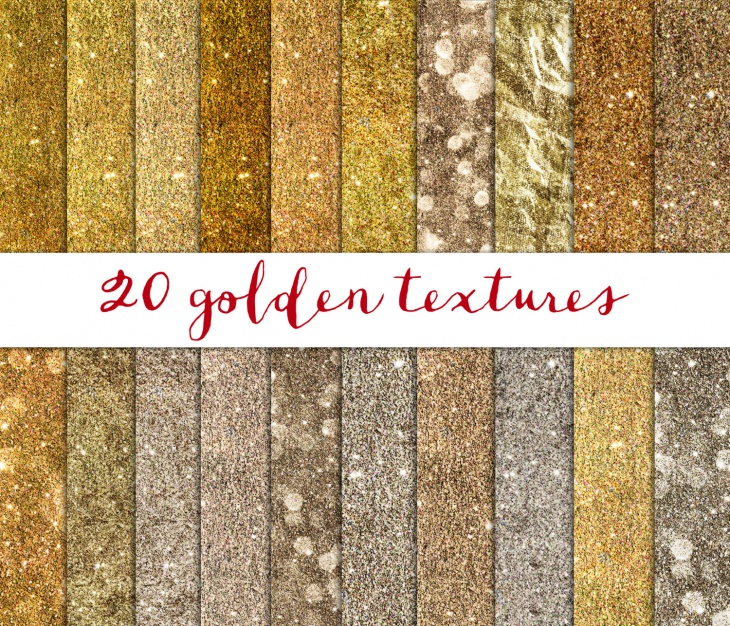 Golden Textures Digital Paper Pack