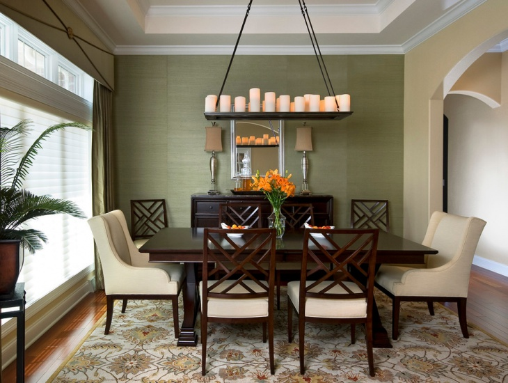 21 green dining room designs decorating ideas design for Small dining room ideas