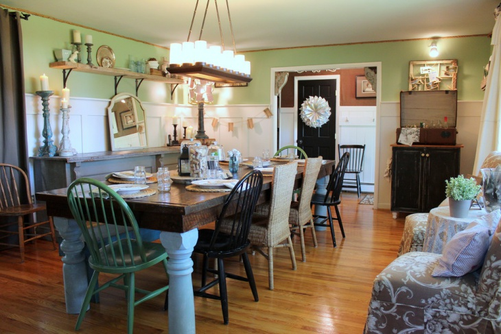 Farmhouse Dining Room Interior