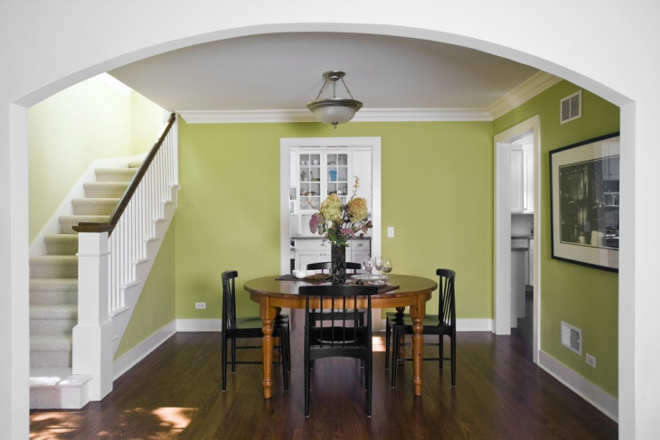 Traditional Green Dining Room Design