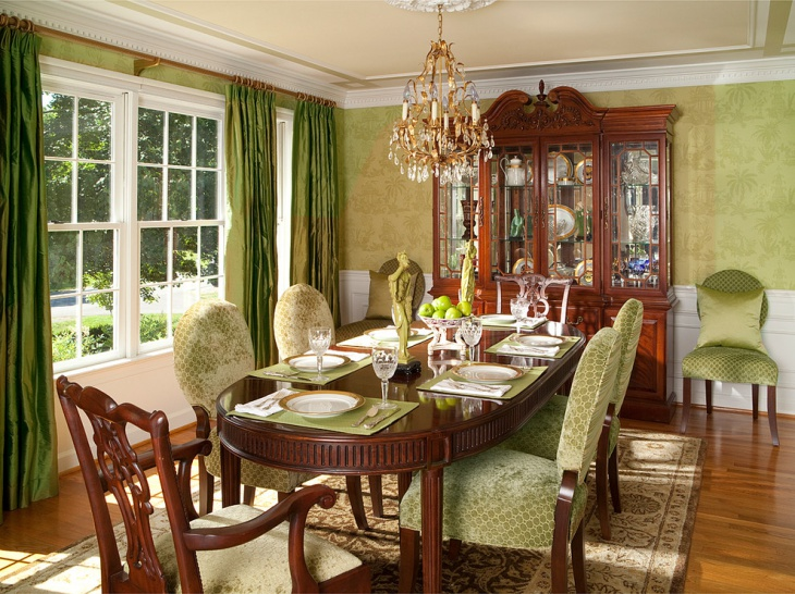 Beautiful Dining Room with Designed Chairs
