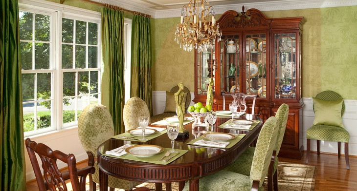 Excellent 21 Green Dining Room Designs Decorating Ideas Design Home Interior And Landscaping Transignezvosmurscom