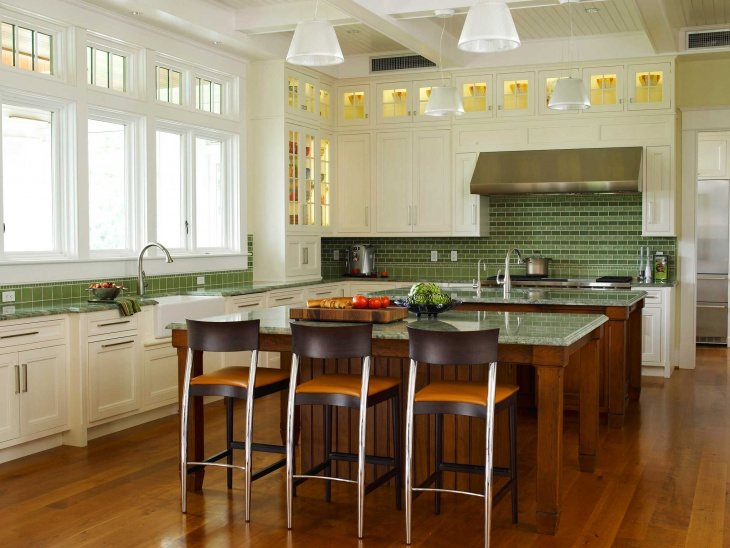 Green Traditional Kitchen Design