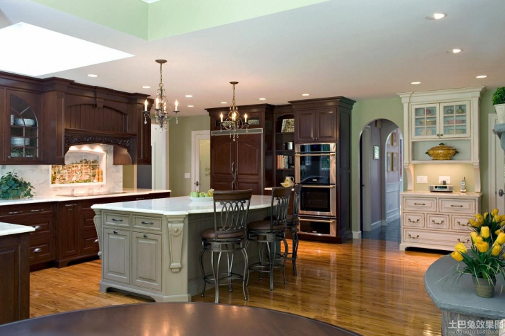 Modern Green Kitchen Countertops Design