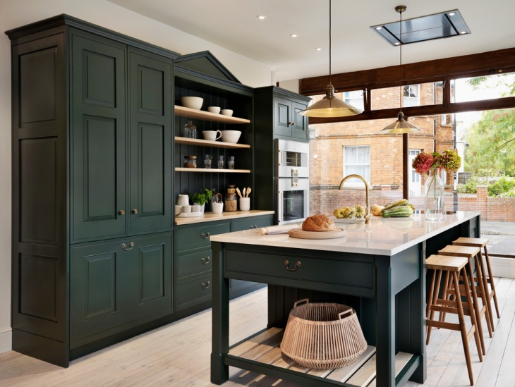 Dark Green Kitchen Countertop Designs
