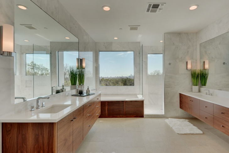 white contemporary bathroom idea