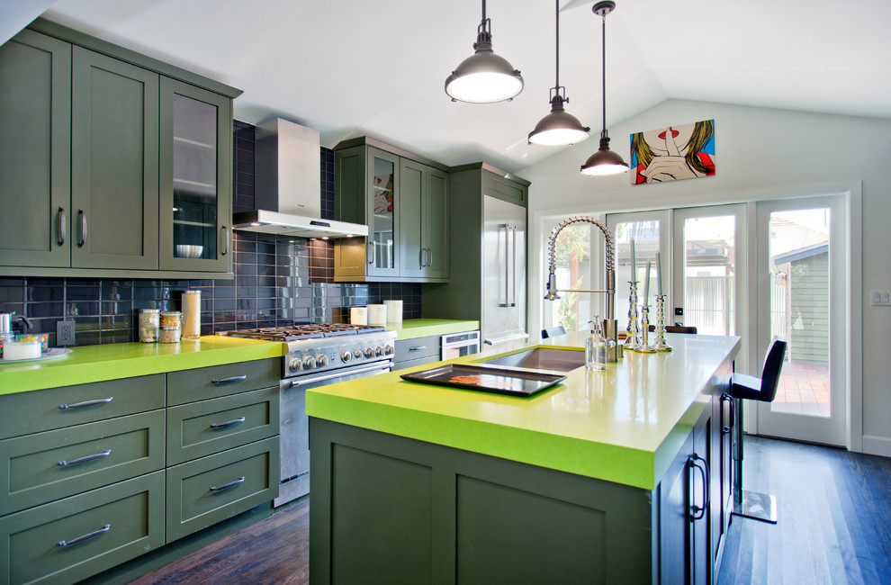 Remodel Green Kitchen Countertop Design