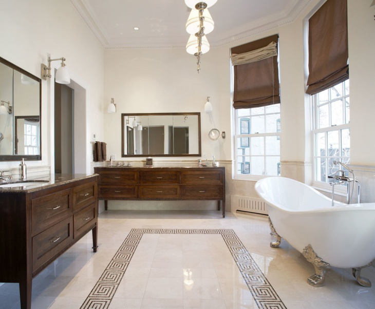 traditional bathroom with antique cabinets1