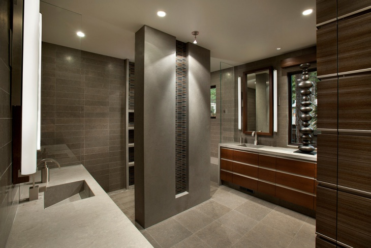 classy bathroom with single vanity