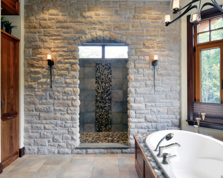 victorian stone wall bathroom