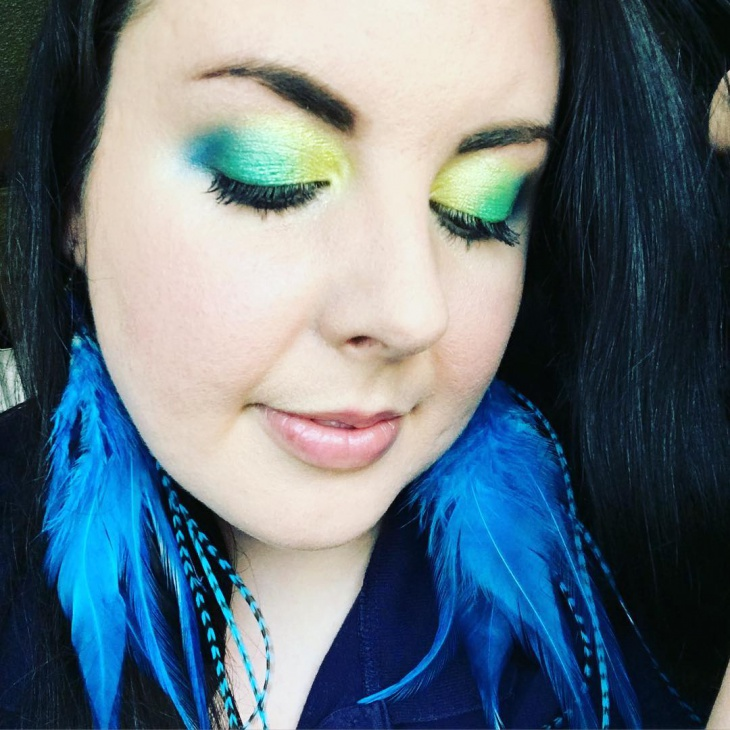 Green and Yellow Eye Shadow Makeup