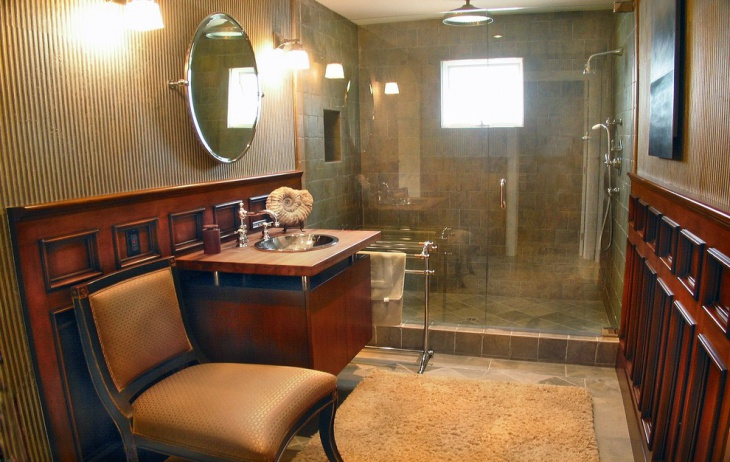 retro masculine bathroom design