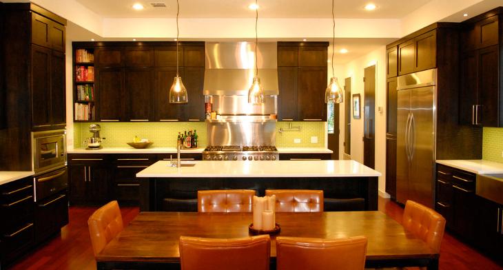 Attractive Green Kitchen Designs