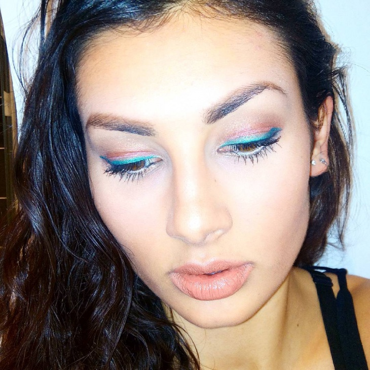 Blue and Brown Eye Shadow