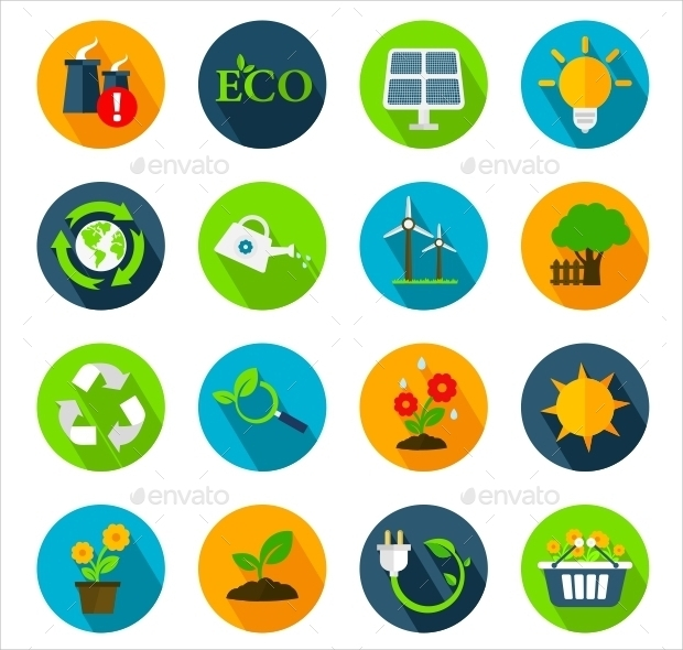 Natural Ecology Icon Set