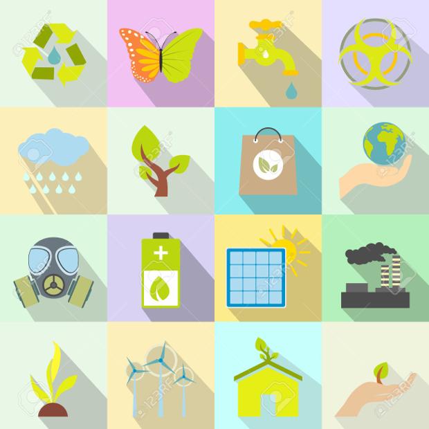 universal ecology flat free icons