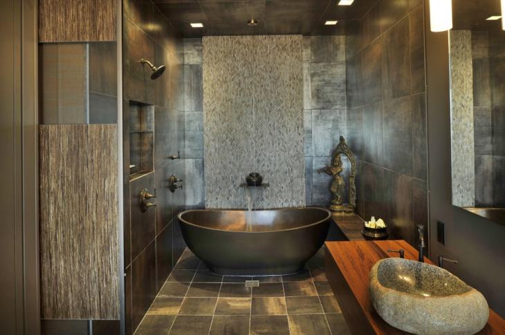 Vintage Stone Feminine Bathroom