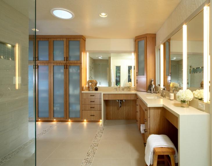 Contemporary Wooden Feminine Bathroom