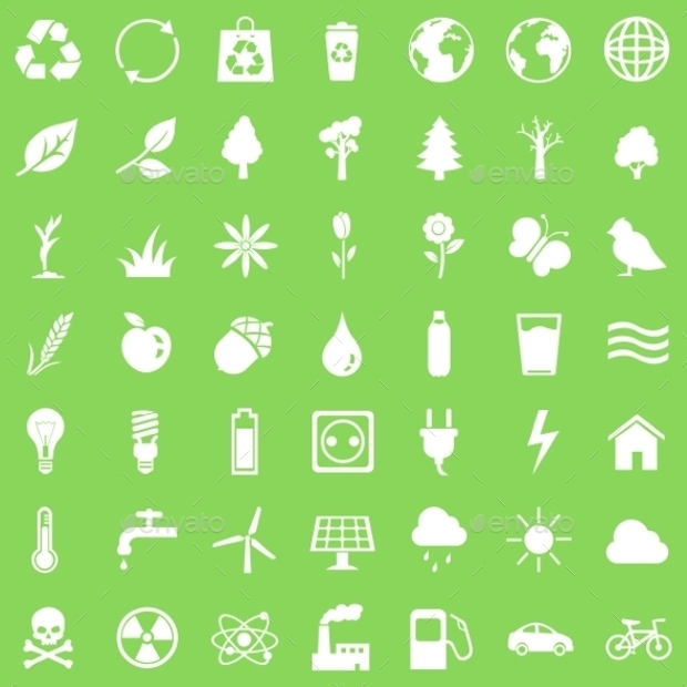 Green Ecological Icon Set