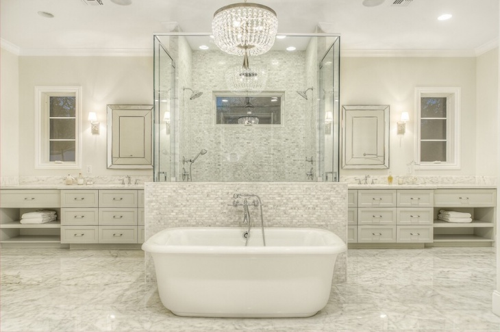 Luxurious Bathroom Chandelier Design