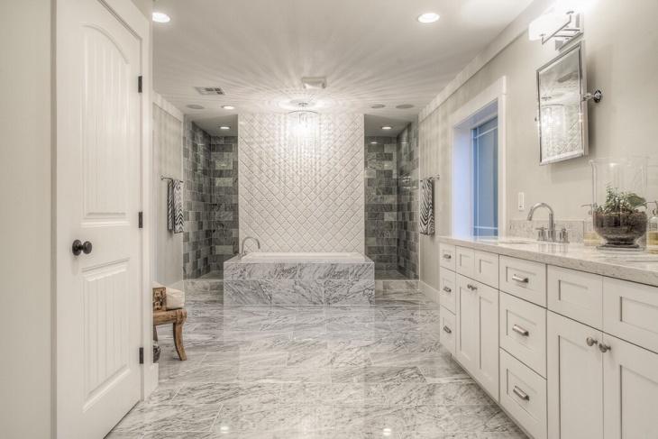 Lavish Bathroom with Marble Floor