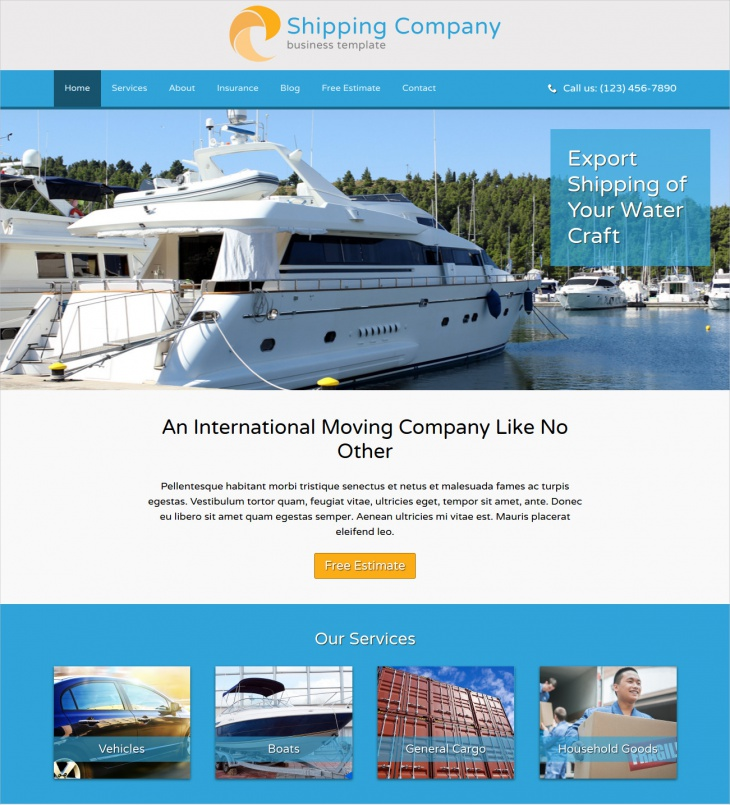wordpress theme for shipping company