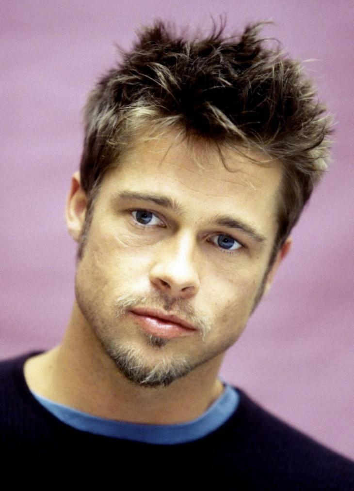Brad Pitt with Little Spiked on Top Haircut