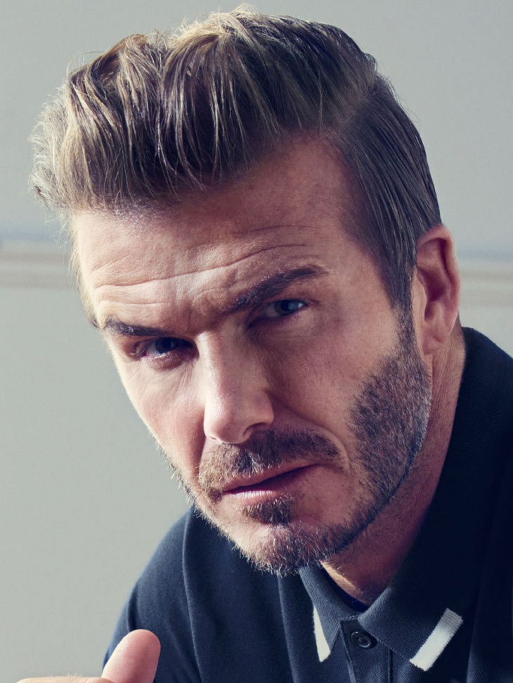david beckham with combover hairstyle