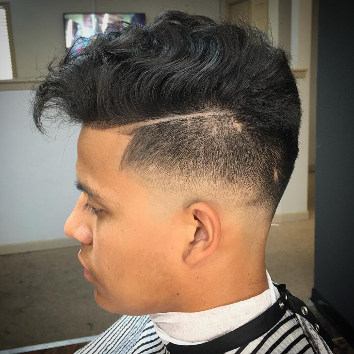 sharp fade mens haircut