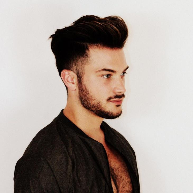 high fade haircut for thick hair