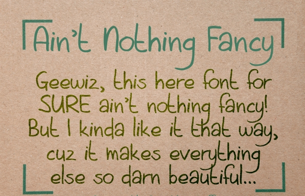 aint nothing fancy font