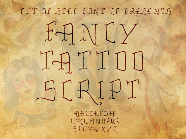Fancy Tattoo Script Font