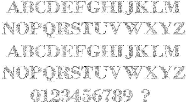 decorative fancy font1