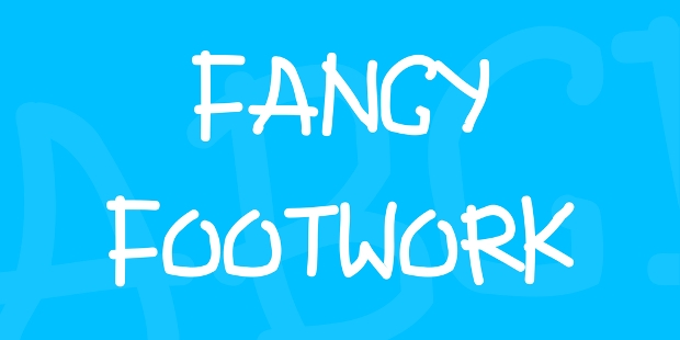 fancy footwork font