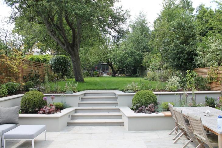 contemporary summer garden design