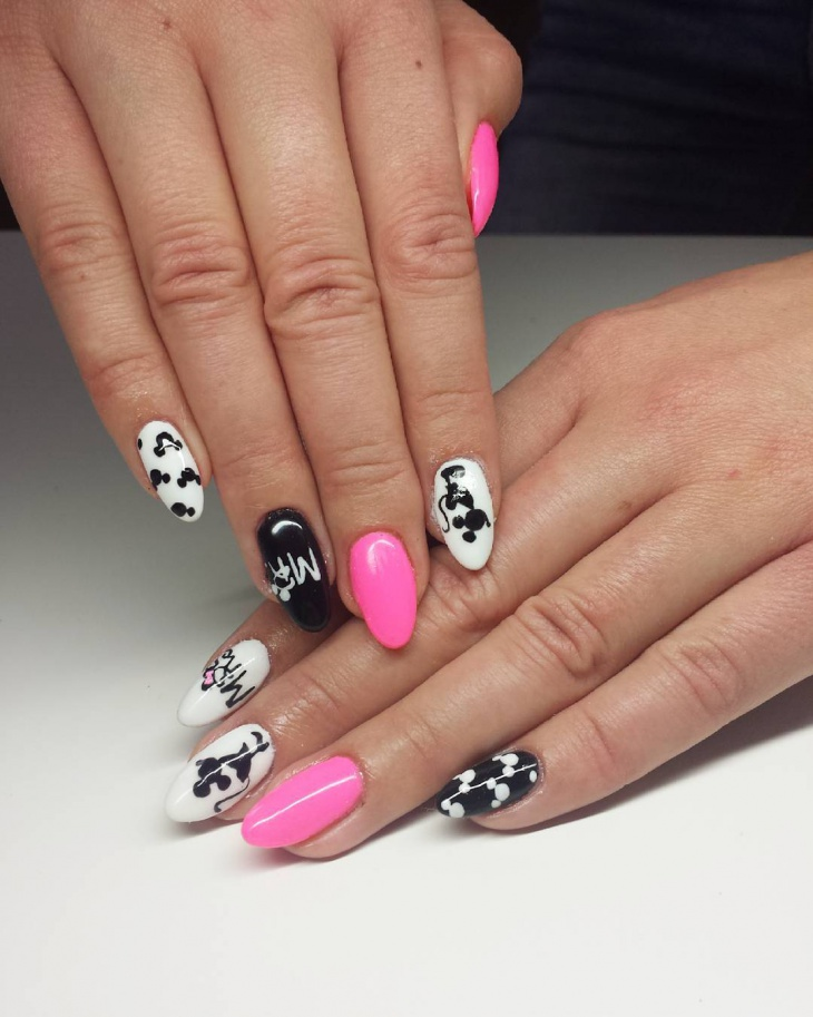 21+ Mickey Mouse Nail Art Designs, Ideas