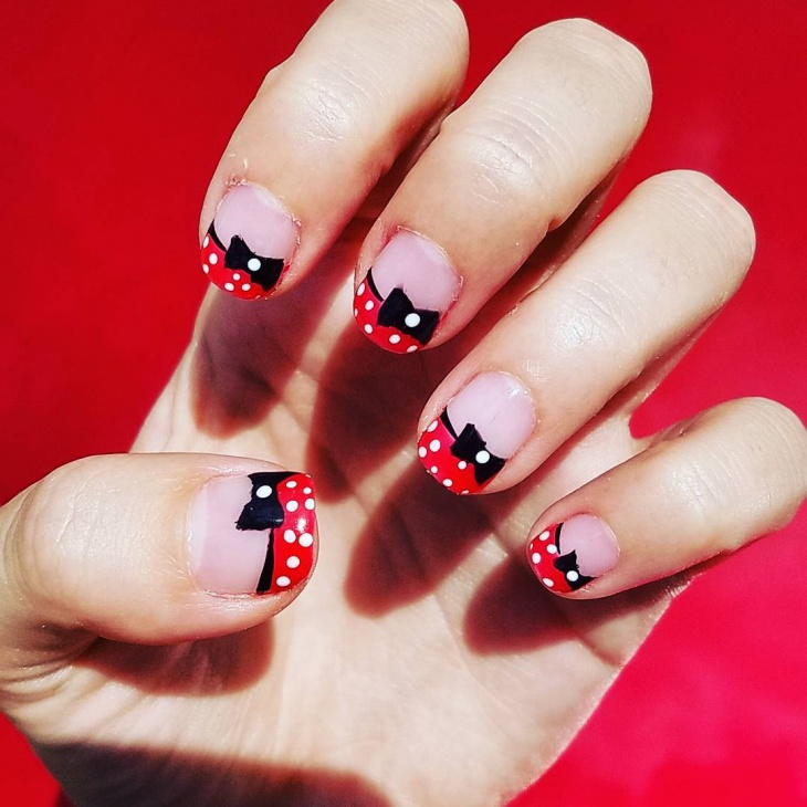 Red Minnie Mouse Nail Art - 21+ Mickey Mouse Nail Art Designs, Ideas Design Trends - Premium